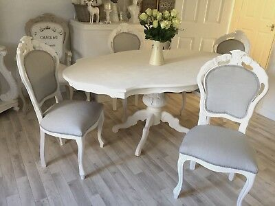 Shabby Chic Table French Louis Style Dining Table White Rococo Antique Table 110 00 Picclick Uk