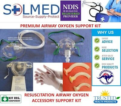 Cpr Airway Oxygen Support Accessories Kit Adult/Paediatric