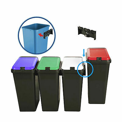 45L Rectangular Touch Top Recycle Recycling Bin Rubbish Kitchen Waste Dustbin