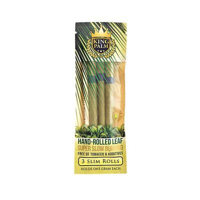 King Palm Super Slow Burning Slim Wraps Pack with 3 units
