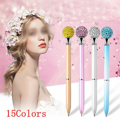 1X Metal Diamond Head Crystal Ballpoint Pen Creative Pen Stationery Gift Stylish