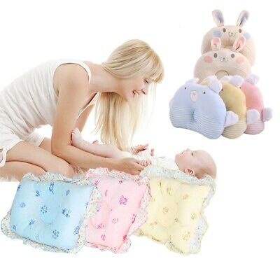 Newborn Infant Baby Soft Pillow Anti Flat Head Velvet Cotton Support Cushion UK