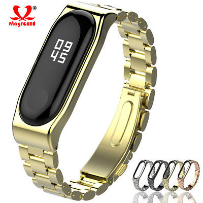 Replacement Strap Stainless Steel Watch Band Bracelet+Case For Xiaomi Mi Band 3