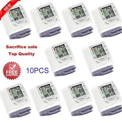 FDA Auto Digital Wrist Blood Pressure Monitor Home BP Measurement Machine Device
