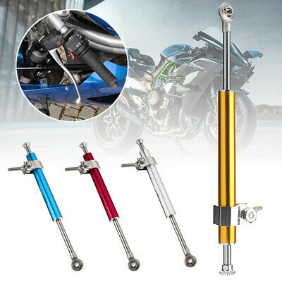 330mm Universal Motorcycle Bike Steering Damper 6way Adjust Stabilizer Linear