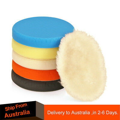 """SPTA 5Pc 7""""/180mm Compound Buffing Pads Polishing Pad Wool Pads For Car Polisher"""