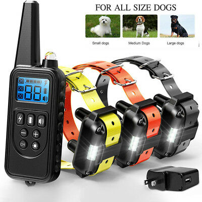 1/2/3 Dog Training Shock Collar Remote Waterproof Electric 885 Yard Pet Trainer