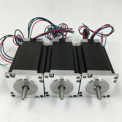 3pcs/lot Nema23 Stepper Motor 1.2Nm 2ph 4Wire L56MM 3A 170oz.in for CNC Router