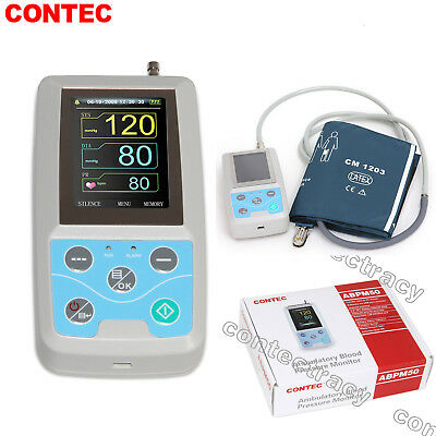 CONTEC Ambulatory Blood Pressure Monitor+Software 24h NIBP Holter ABPM50,adult