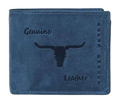 URBAN FOREST Blue Men's Wallet 100% Genuine