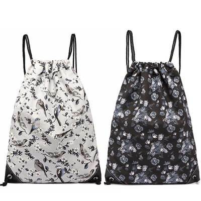 Drawstring Sport Backpack Birds Casual Shopping Swimming Gym Canvas Bag