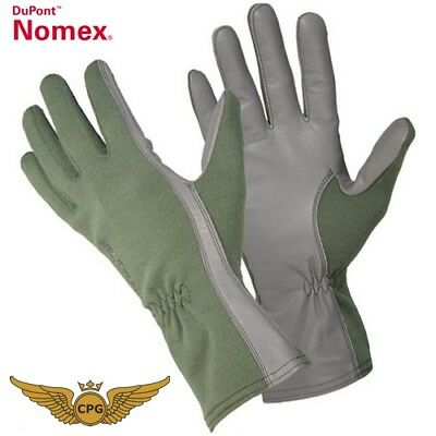 NOMEX Military Pilot, aviation, flight, tactical gloves - Green
