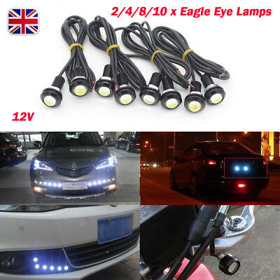 2/4/8/10 COB LED Car Motorcycle Motorbike Backup Light Bolt FOG DRL Daytime Lamp