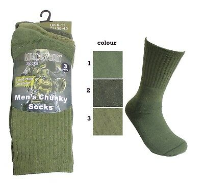 Army Men CHUNKY Thermal Outdoor Warm Work Military Boot Socks Whole sale Job lot