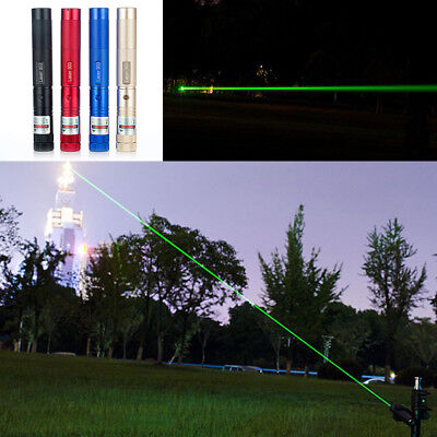 10M Military Green 1MW 532NM Laser Pointer Pen Lazer Light Visible Beam ON/OFF