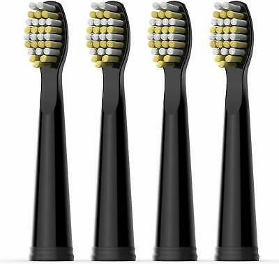 Hard Toothbrush Replacement Heads For Fairywill Black Sonic Electric Toothbrush