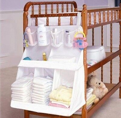 Rooms Nursery Hanging Storage Bag Baby Cot Bed Crib Organizer  Toy Diaper Pocket