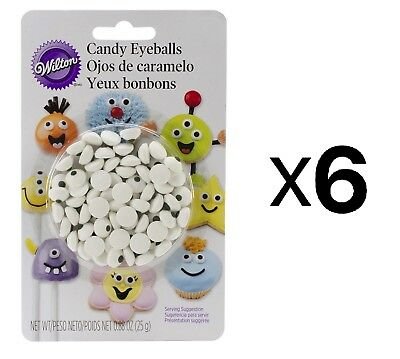 Wilton Candy Eyeballs Cookie Cake Cupcake Decorations 5/16 Inches Diam. (6-Pack)