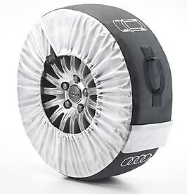 """Set Of Four Genuine Audi Winter Wheel Tyre Covers Set - Size Large 14 """" To 18"""""""