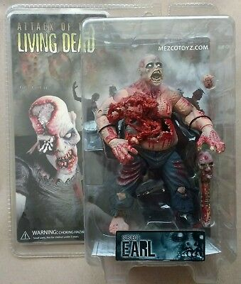 Mezco Attack of the Dead ZOMBIE SUBJECT EARL Action Figure BNIB Sealed