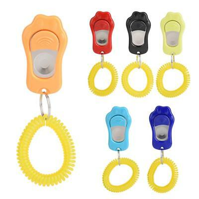 Pet Dog Training Clicker Obedience Aid with Wrist Strap Click 3-Gear Adjustable