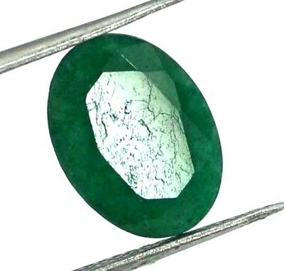 GGL Certified 3.80 Ct Natural Exquisite Look Oval Cut Emerald Gemstone
