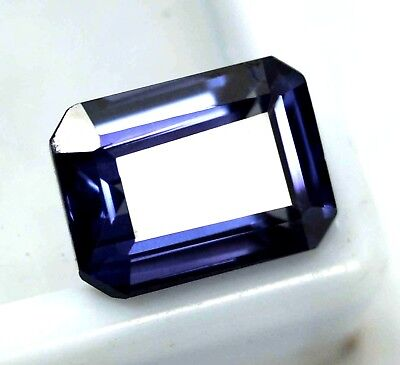 GGL Certified 6.55 Ct Natural Multi-Color Paraiba Tourmaline Emerald Cut Gem