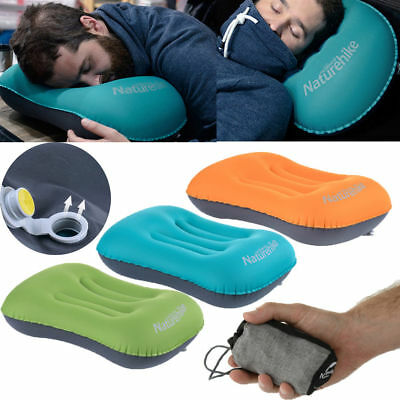 Inflatable Air Travel Pillow Airplane Neck Head Chin Cushion Office Nap Pillow L