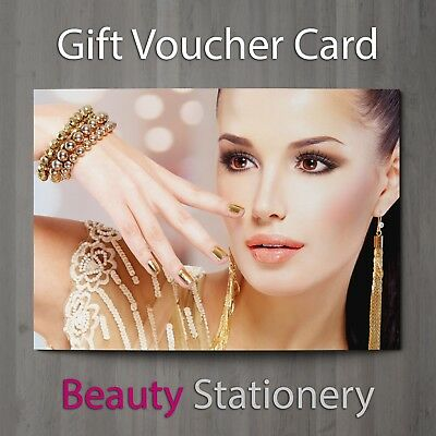 Gift Voucher Beauty Salon Blank Card Nail Massage Nail Hairdressing A7 + Env.