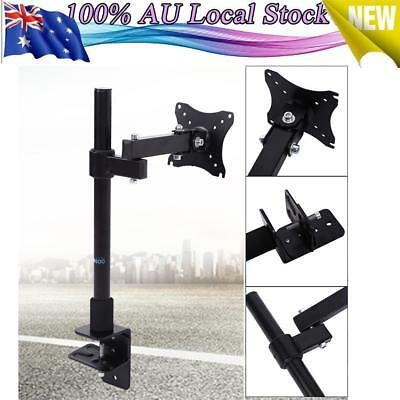 """Single Lcd Led  Monitor Desk Stand Mount 3 Fully Adjustable Joins Fit 14""""-24"""""""