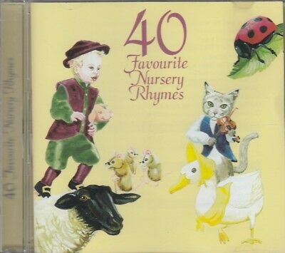 40 Favourite Nursery Rhymes CD Humpty Dumptym Ding Dong Bell 3 Blind Mice