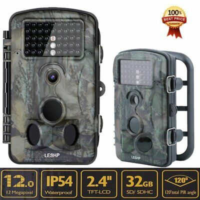 """2.4"""" 1080P Infrared IR 12MP Game Trail Stealth Night Vision Hunting Camera CF"""