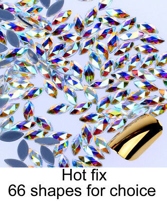 Forme spéciale Crystal AB thermocollants Hotfix strass Hot Fix Flatback pierres