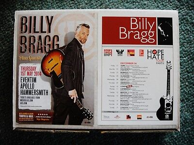 BILLY BRAGG X 2 (A5) FLYERS - FROM 2006 and 2014