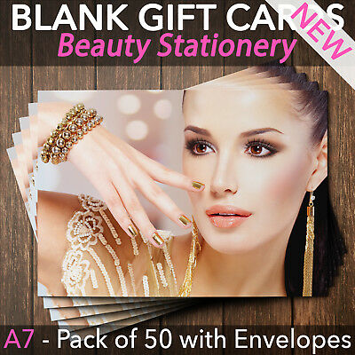 Gift Voucher Card Beauty Make Up Salons Hairdressers Nail Manicure x50+Envelope