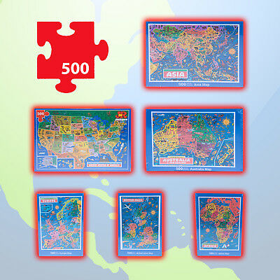 ** PICK YOUR MAP JIGSAW PUZZLE ** USA Europe Asia Australia Africa British Isles