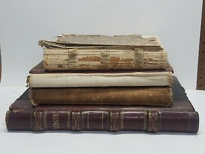 Lot of 4 Antique Sioux City Iowa Water Works Ledger's 1880s to early 1900s