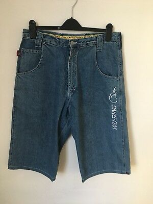 *RARE* Collectable WU TANG CLAN jeans, Long Shorts 90's Hip Hop/rap Size 44 👀❗️