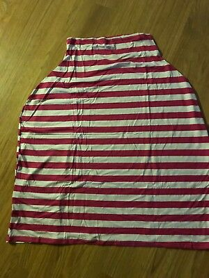 Nursing Cover For Breastfeeding Pink And White Stripe