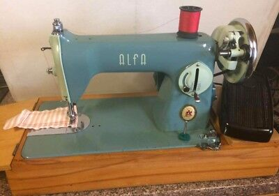 Vintage Alfa Sewing Machine Semi Industrial working with extras