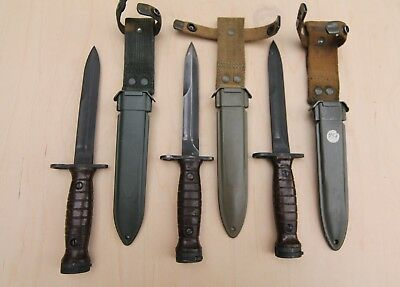 Italian M4 Bayonet for M1 Carbine with M8 Scabbard, Post WWII AET Surplus