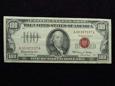 1966 $100 Red Seal United States Note (537)