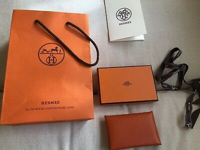 bdc9ff14013e AUTHENTIC HERMES CALVI Wallet In Color feu (flame). Brand New