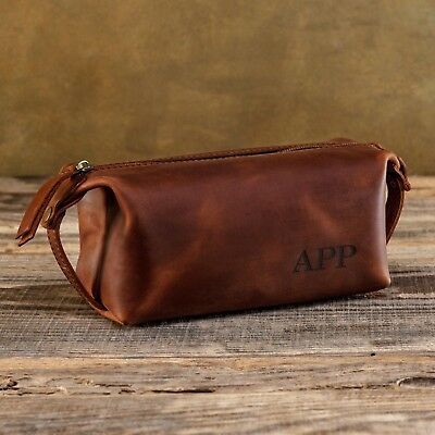 f71ace65d408 LEATHER TOILETRY BAG Men Personalized Dopp Kit Handmade Travel Bags Сustom  Pouch