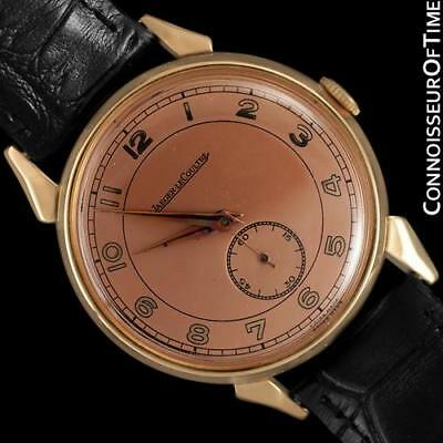1949 JAEGER-LECOULTRE Vintage Large 37mm Mens 18K Rose Gold, Minty with Warranty