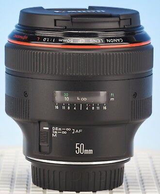 Canon EF 50mm f/1.0L USM Lens RARE! FULLY SERVICED AND READY FOR USE!