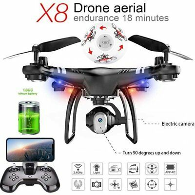 X8 RC Drone 2.4G Adjustable Camera FPV RC Drrone 18mins Flight Altitude Hold WS