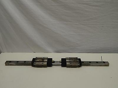 "Lot of 2 NSK LA45-4 Bearings w/ 45"" CNC Linear Slide Rails"