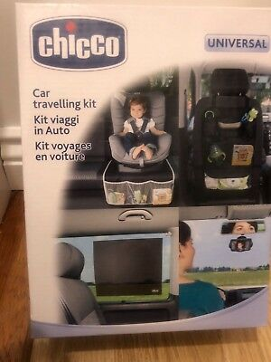 Chicco Car Travel Kit seat cover mirror car baby organiser New