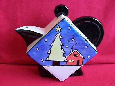 ** Classy Vibrant Lorna Bailey Large White Christmas Teapot** * Excellent Con *